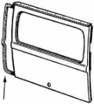 Rear Hatch Door Seal  72---> (B31)