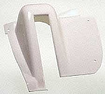 Hinge Cover Set, White Plastic, 64-67