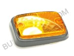 Side Reflector, front, yellow w/silver, 1970-1979 Bus, fits left and right (1-4)