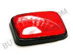 Side Reflector, Rear, red lens, black base, 1970-1979 Bus, fits left and right (1-3)