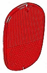 TAILLIGHT LENS, fits 1962-1971 RED (4-9)