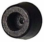 FRONT DOOR RUBBER STOP, short, mounts to rear lower corner of single cab and double cab, without screw, fits all single cab and double cab models through 1974, German15mm (WW) (6-13)