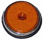 Side Reflector w/ Base Gasket, Amber,Front, Bus ' 68 - ' 69 (1-4A)