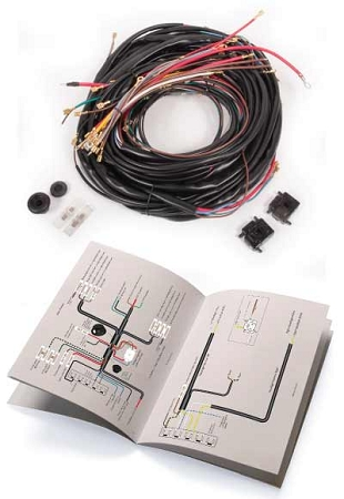 wiring harness complete 1966 1967 bus made by wolfsburg. Black Bedroom Furniture Sets. Home Design Ideas