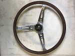 Original Empi universal wood steering wheel