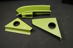 Rear Engine Lid Pillar LEFT - Through 1963 ONLY*** ORDER DIRECTLY FROM KLASSIC FAB.COM***