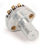 HEADLIGHT HIGH/LOW BEAM SWITCH, fits 1961-1965  Bus. Push on connectors with metal button. (through 1967 for European model Buses)
