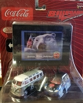 COCA COLA VW Bus/PT Cruiser Johnny Lightning