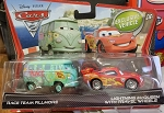 Disney Pixar CARS 2 Movie Fillmore VW Bus (RACE TEAM W/ Lightning McQueen Travel Wheels)