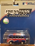 CHICAGO CUBS VW Bus 1:64 Die Cast (PRESSPASS) Official MLB