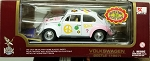Road Legends 1967 Flower Peace PINK & WHITE Beetle 1:18 Scale