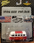 Johnny Lightning INDY 500 FAN BUS Limited Edition 2002 (RED CHECKERED)