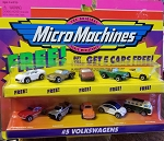 Micro Machines ALL VWS Plus (5) Bonus Cars 1998