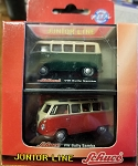 SCHUCO Junior Line VW Bully Samba (2 Bus Set) 1:72 Scale