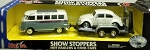 MAISTO ROAD & TRACK Show Stoppers Hot Haulers & Cool Cars (GREY BUS/White BUG)
