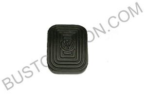 Clutch & Brake Pedal Pad, Rubber - VW Logo, 50-67 (7-5)