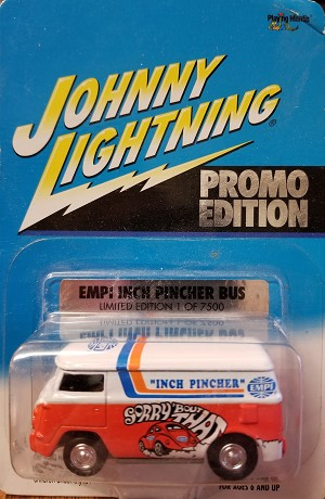 EMPI INCH PINCHER BUS Johnny Lightning Promo Edition 2001 SMOOTH WHEELS