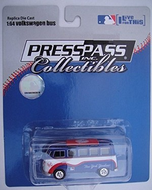 NEW YORK YANKEES VW Bus 1:64 Die Cast (PRESSPASS) Official MLB